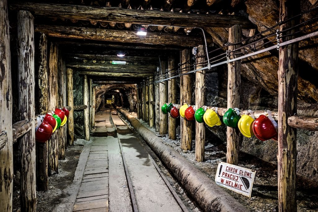 Podziemna trasa turystyczna w Złotym Stoku – Źródło: Kopalnia Złota w Złotym Stoku