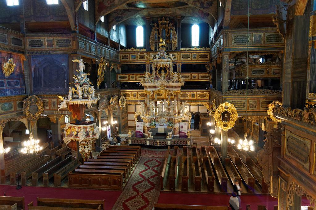 Wnętrze Kościoła Pokoju w Świdnicy