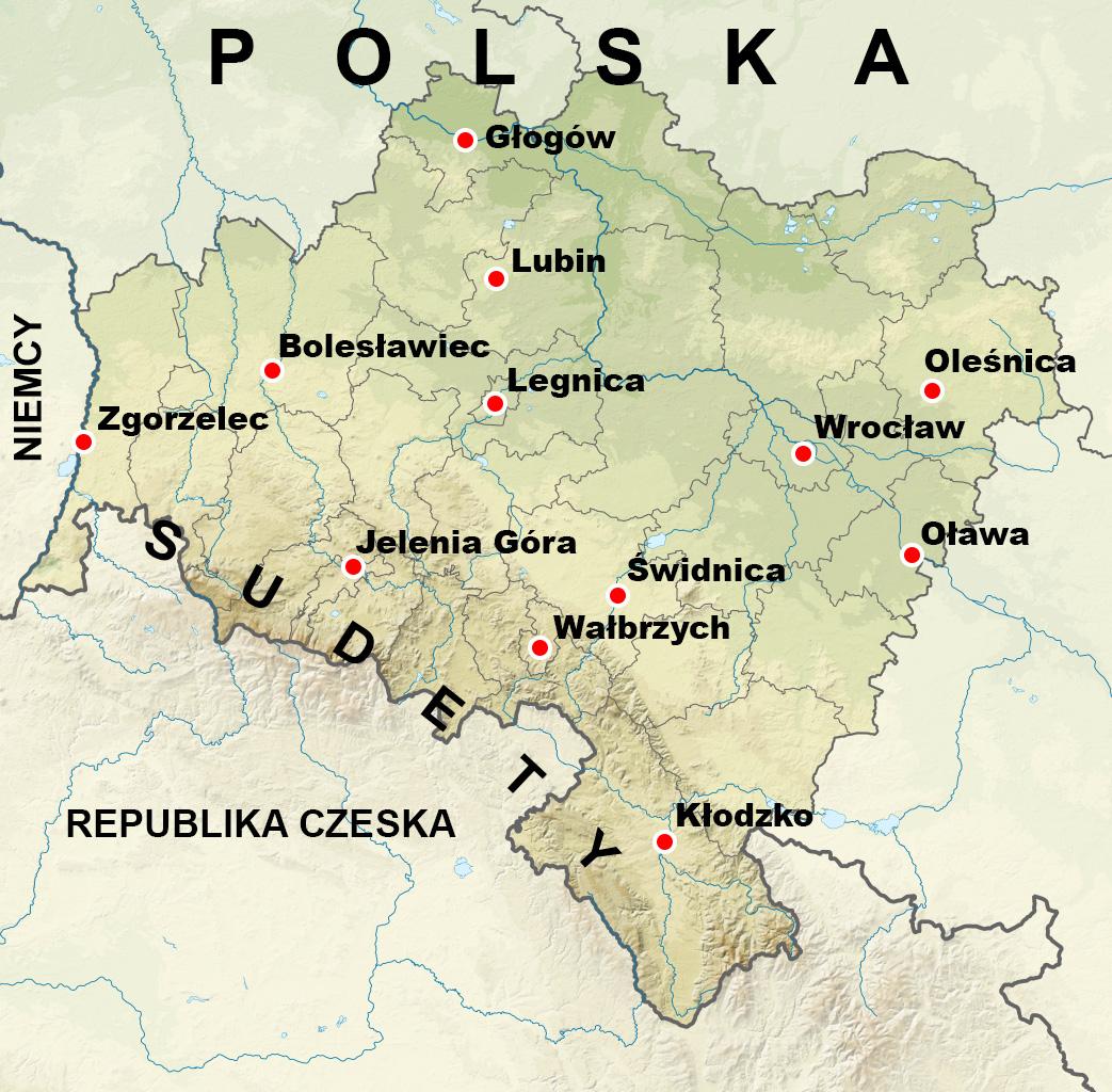 Województwo dolnośląskie – Quelle: Wikimedia/SANtosito
