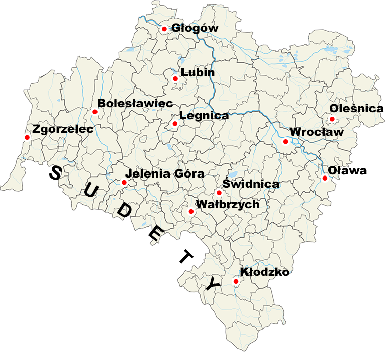 Województwo dolnośląskie – Źródło: Wikimedia/Aotearoa