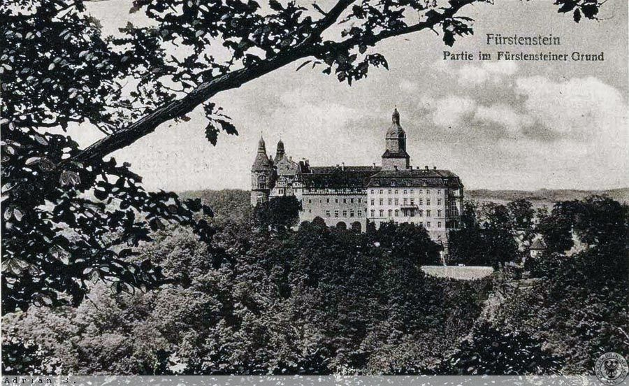 Zamek Książ po przebudowie, lata 20. XX wieku – Źródło: polska-org.pl