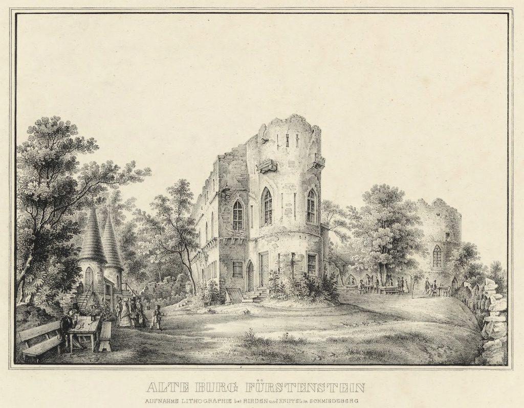 W XIX wieku Stary Książ pełnił funkcję romantycznych ruin, które były popularnym celem wycieczek ówczesnych turystów