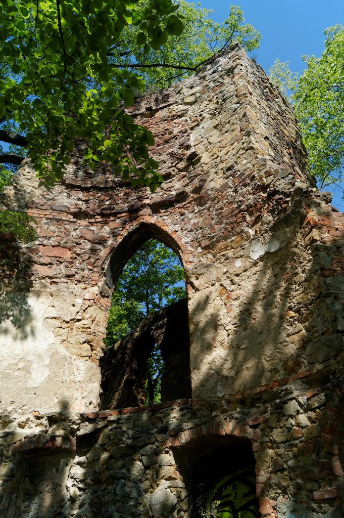 Pozostałości urwanej baszty