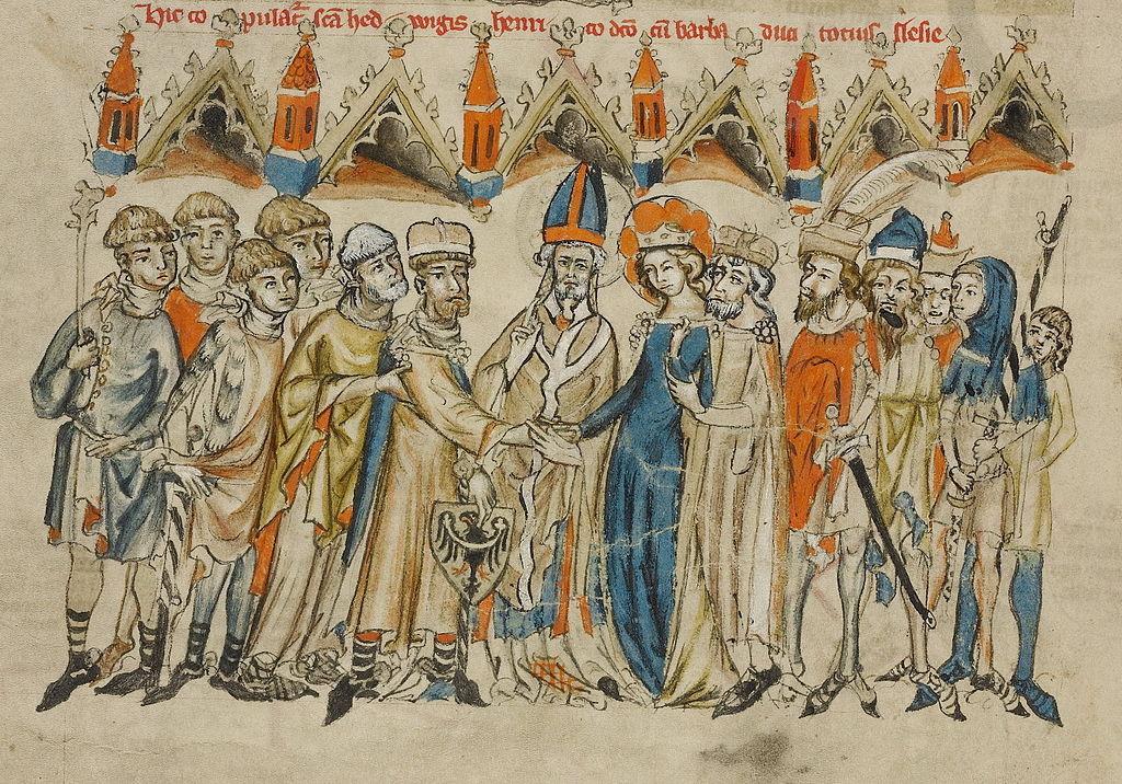 Książę śląski Henryk I Brodaty i święta Jadwiga na ikonografii z XIV wieku