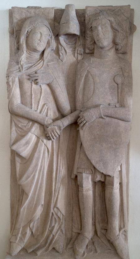 Prawdopodobna płyta nagrobna księcia jaworskiego Henryka I i jego żony Agnieszki