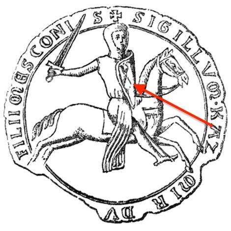 Pieczęć księcia opolskiego Kazimierza I z pierwszym wizerunkiem orła śląskiego