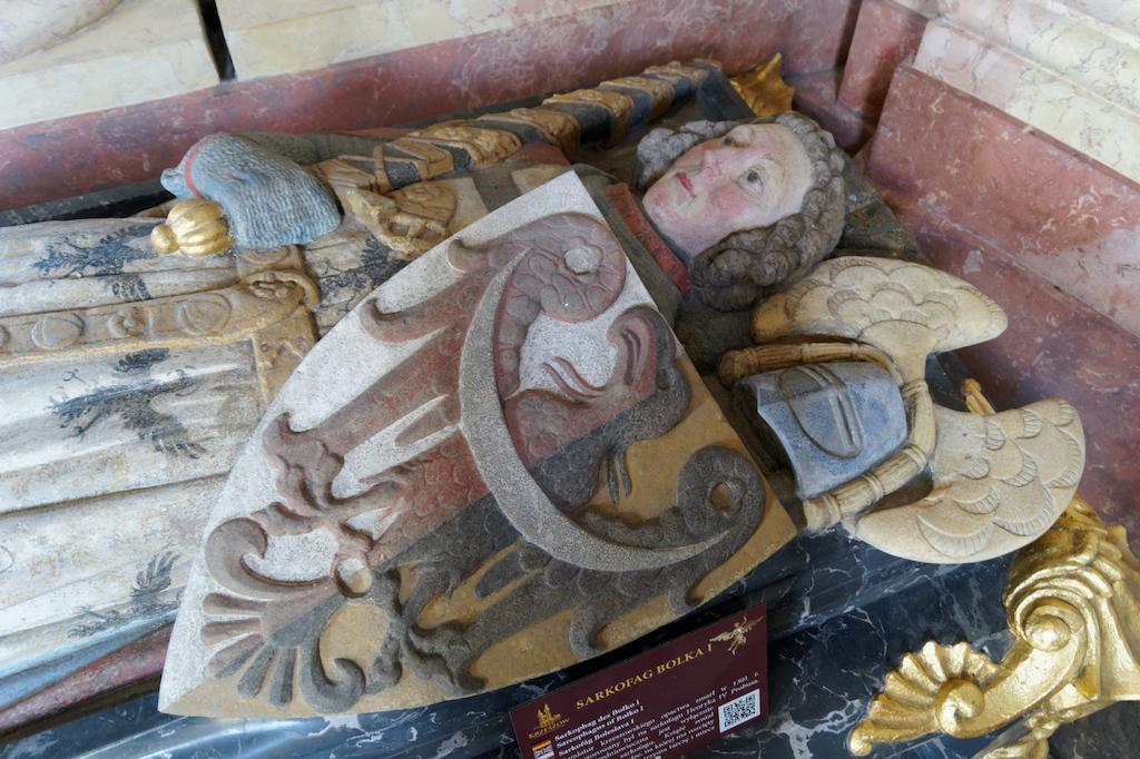 Sarkofag Bolka I Surowego w Mauzoleum Piastów Śląskich w Krzeszowie