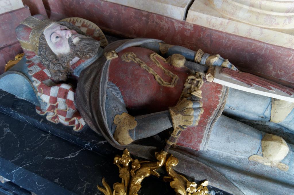 Sarkofag Bolka II Małego w Mauzoleum Piastów Śląskich w Krzeszowie