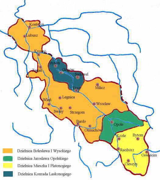 Śląsk w latach 1177–1185 – Autor: Zuber Źródło: wikimedia.org