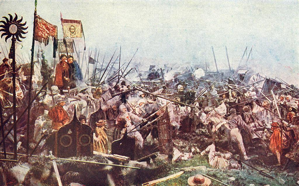 Bitwa pod Lipanami w 1434 roku – Autor: Luděk Marold