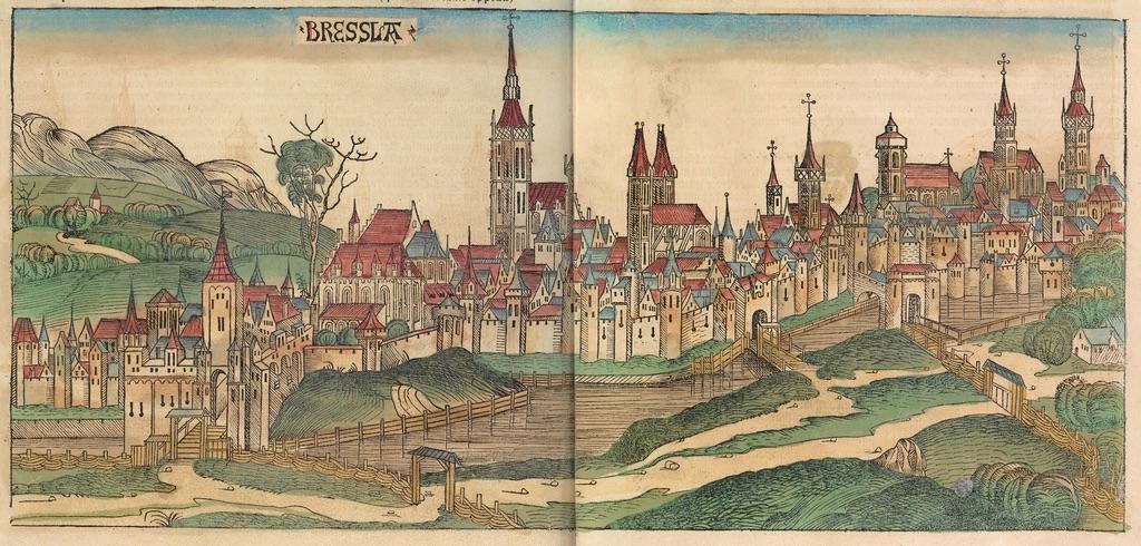 Panorama Wrocławia z końca XV wieku