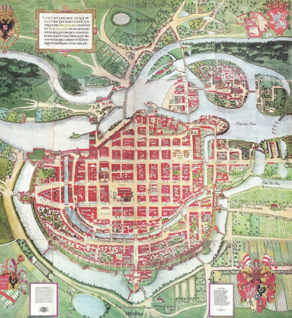 Plan Wrocławia Barthela Weihnera z 1562 roku