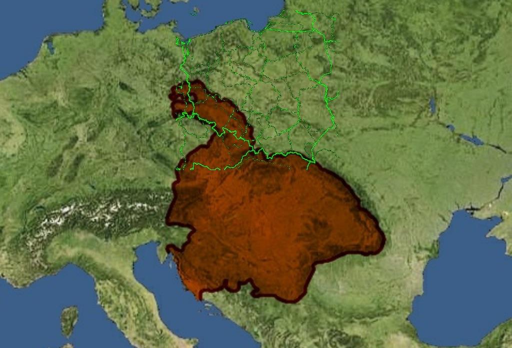 Ziemie Macieja Korwina pod koniec jego panowania – Autor: Dzidan Źródło: wikimedia.org