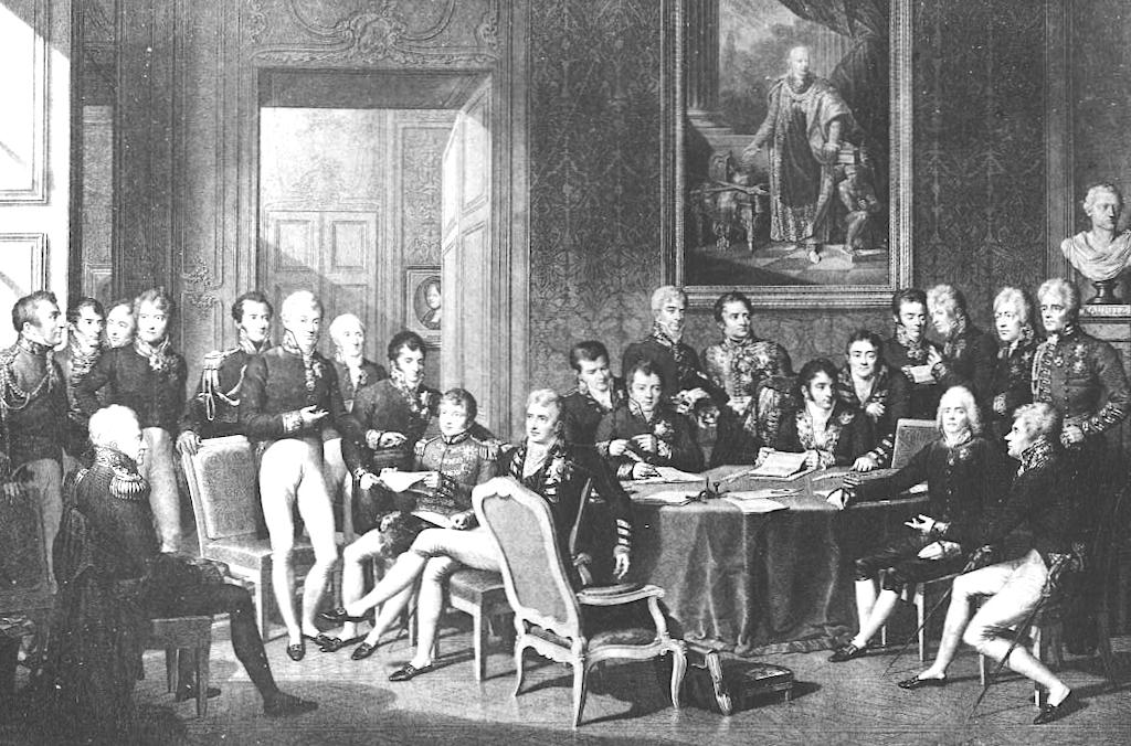 Kongres wiedeński w 1815 roku – Autor: Jean-Baptiste Isabey