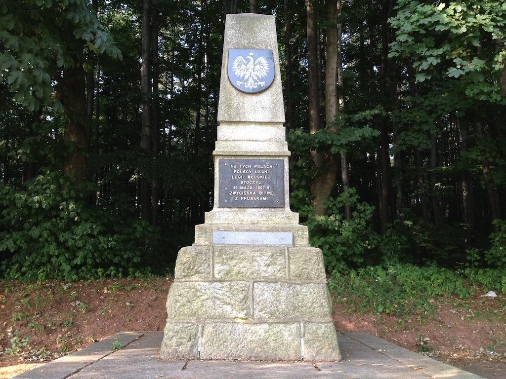 Pomnik Ułanów Legii Nadwiślańskiej w Szczawnie-Zdroju, upamiętniający bitwę pod Strugą w 1807 roku