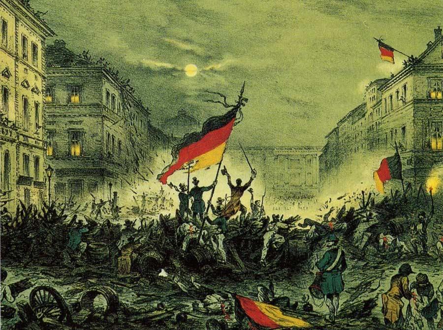 Wybuch rewolucji marcowej w Berlinie w 1848 roku