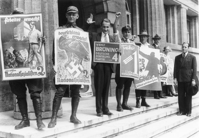 Kampania wyborcza do Reichstagu w 1932 roku – Źródło: Bundesarchiv
