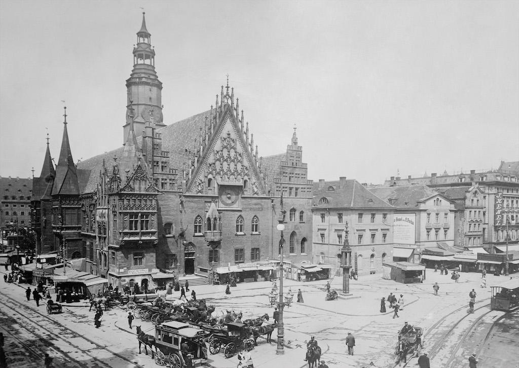 Rynek we Wrocławiu na początku XX wieku