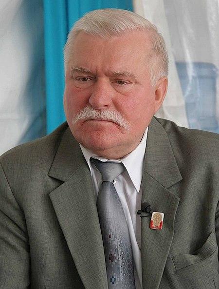 Prezydent Lech Wałęsa – Zbiory: MEDEF Źródło: wikimedia.org