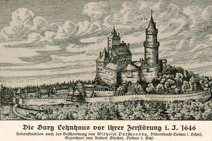 Próba (fantazyjna) rekonstrukcji wyglądu zamku przed jego zniszczeniem – Źródło: polska-org.pl
