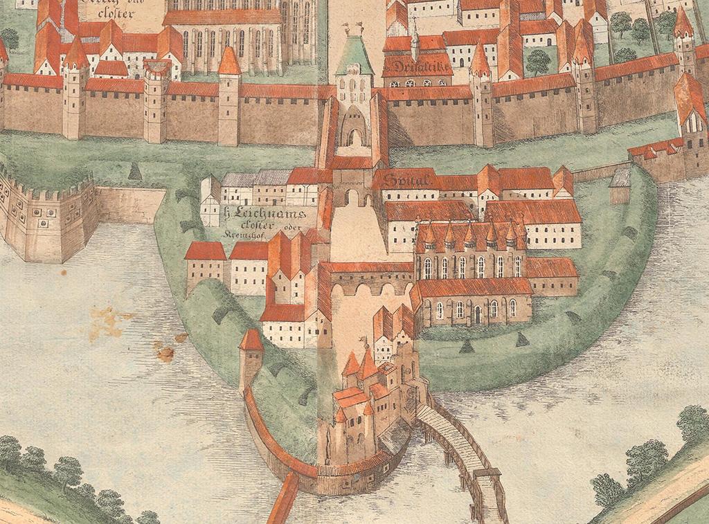 Nieistniejące bramy świdnickie znajdujące się wzdłuż dzisiejszej ul. Świdnickiej, wraz ze średniowiecznymi murami miejskimi i ciągiem nowszych fortyfikacji bastejowych