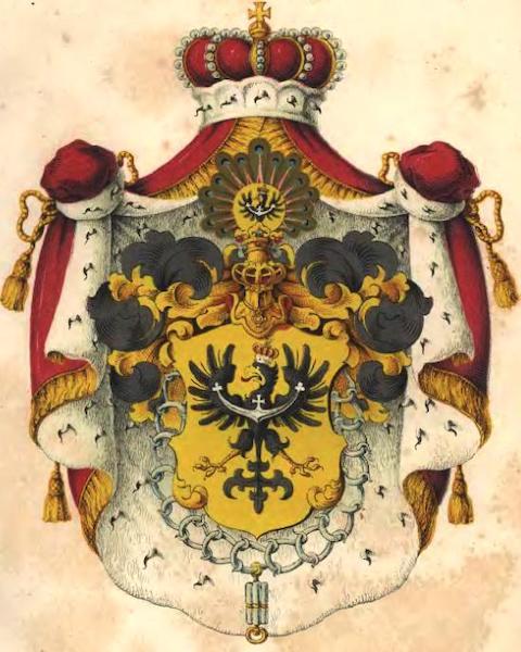 Herb prowincji śląskiej w Królestwie Prus z 1842 roku