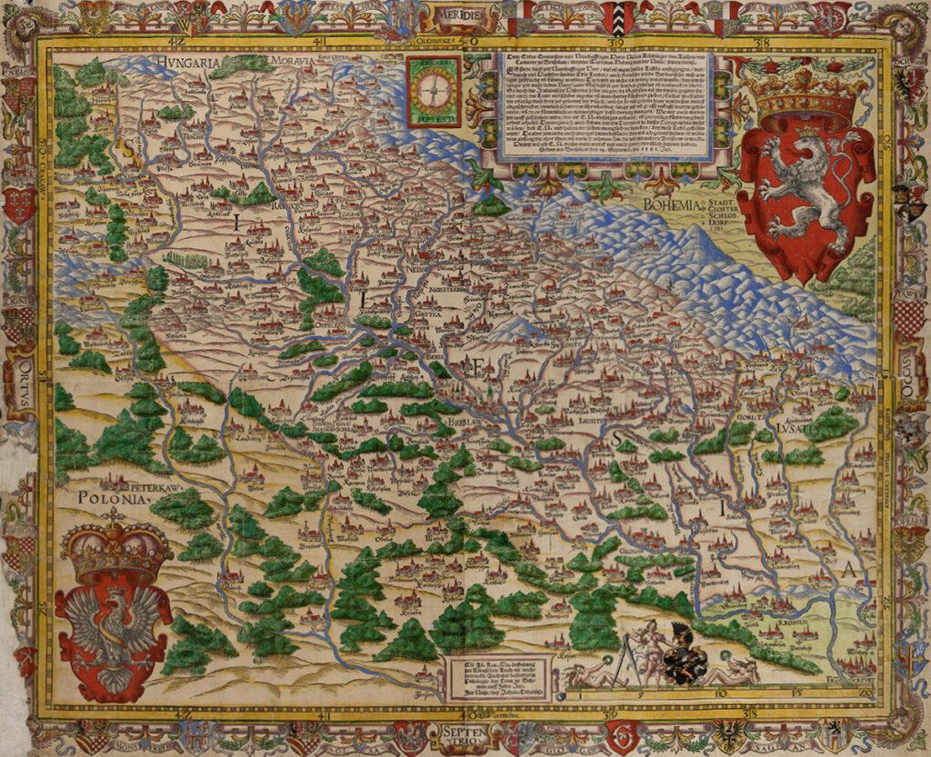 Mapa Śląska Martina Helwiga z 1561 roku – Zbiory: Badischen Landesbibliothek
