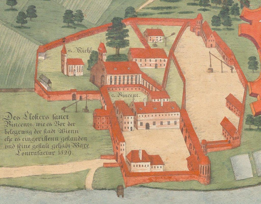 Rozebrane w 1529 roku opactwo benedyktynów św. Wincentego na Ołbinie