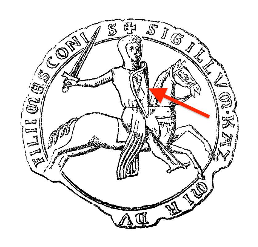 Pieczęć księcia opolskiego Kazimierza I z wizerunkiem orła na tarczy