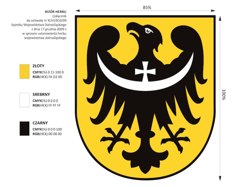 Wzór herbu województwa dolnośląskiego