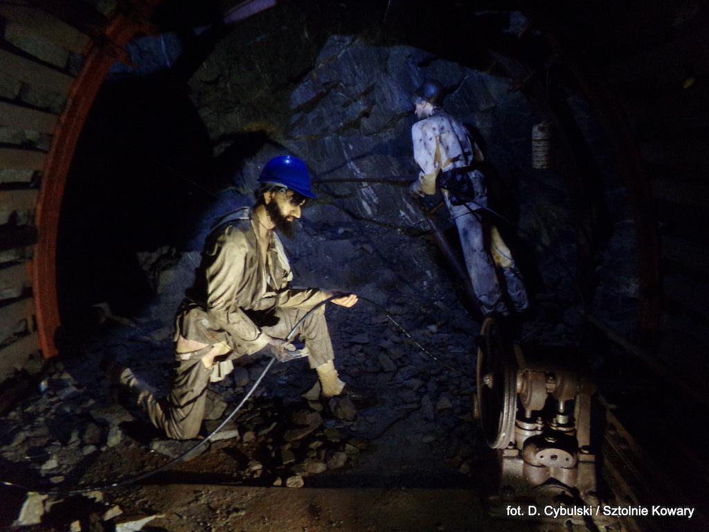 Ekspozycja górnicy na przodku – Foto: Dominik Cybulski