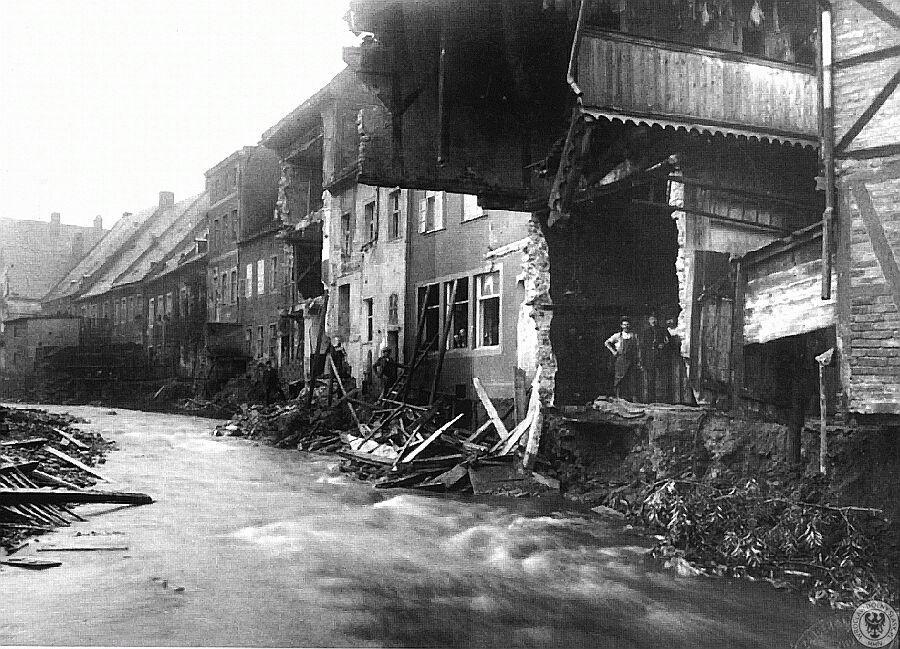 Kowary, zniszczenia dokonane przez powódź – Źródło: polska-org.pl