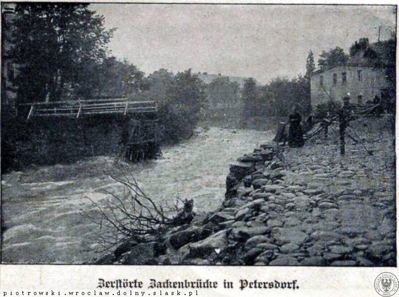 Piechowice, zerwany most nad Kamienną – Źródło: polska-org.pl