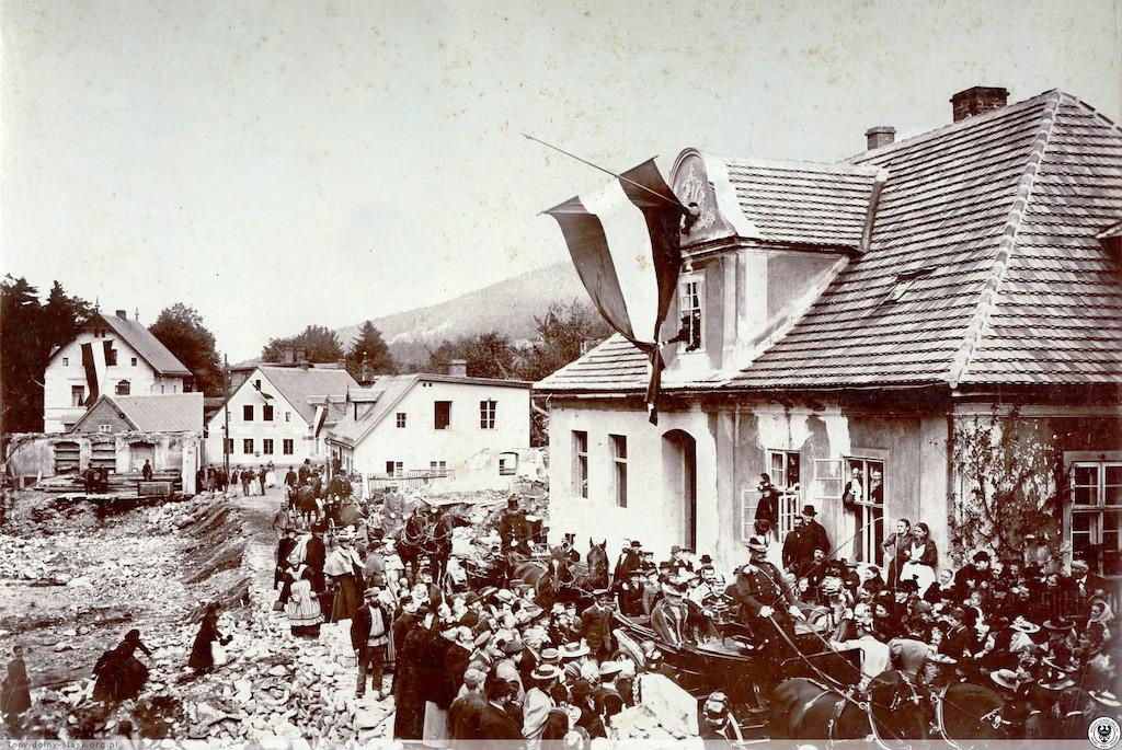Wizyta cesarzowej Augusty Wiktorii w Kowarach, 21 września 1897 roku – Źródło: polska-org.pl